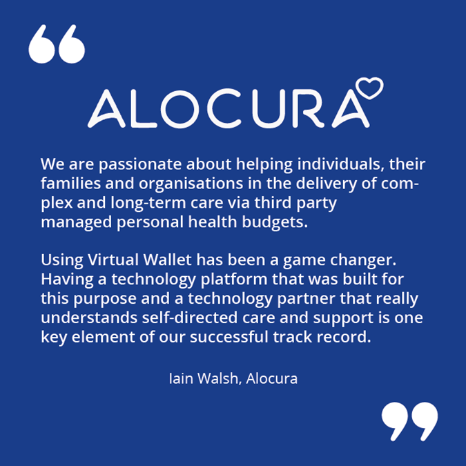 a quote from Alocura about how they use Virtual Wallet for third-party managed PHB accounts